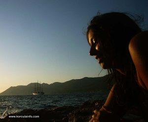 Sunbathing on Mandrac beach, Korcula