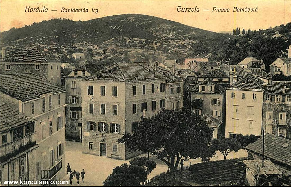 Plokata in 1900s - b/w photo
