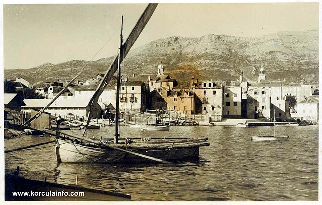Boat @ Punta jurana in 1950s