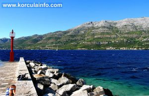 Rocks at Puntin Beach in Korcula Old Town