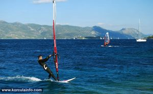 Windsurfing at Puntin Beach in Korcula