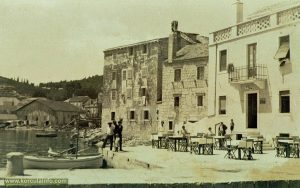 Punta Jurana in 1930s with restaurant Golub (Planjak nowadays) in the foreground
