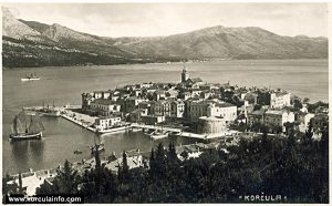 Riva in Korcula (Port) in 1930s