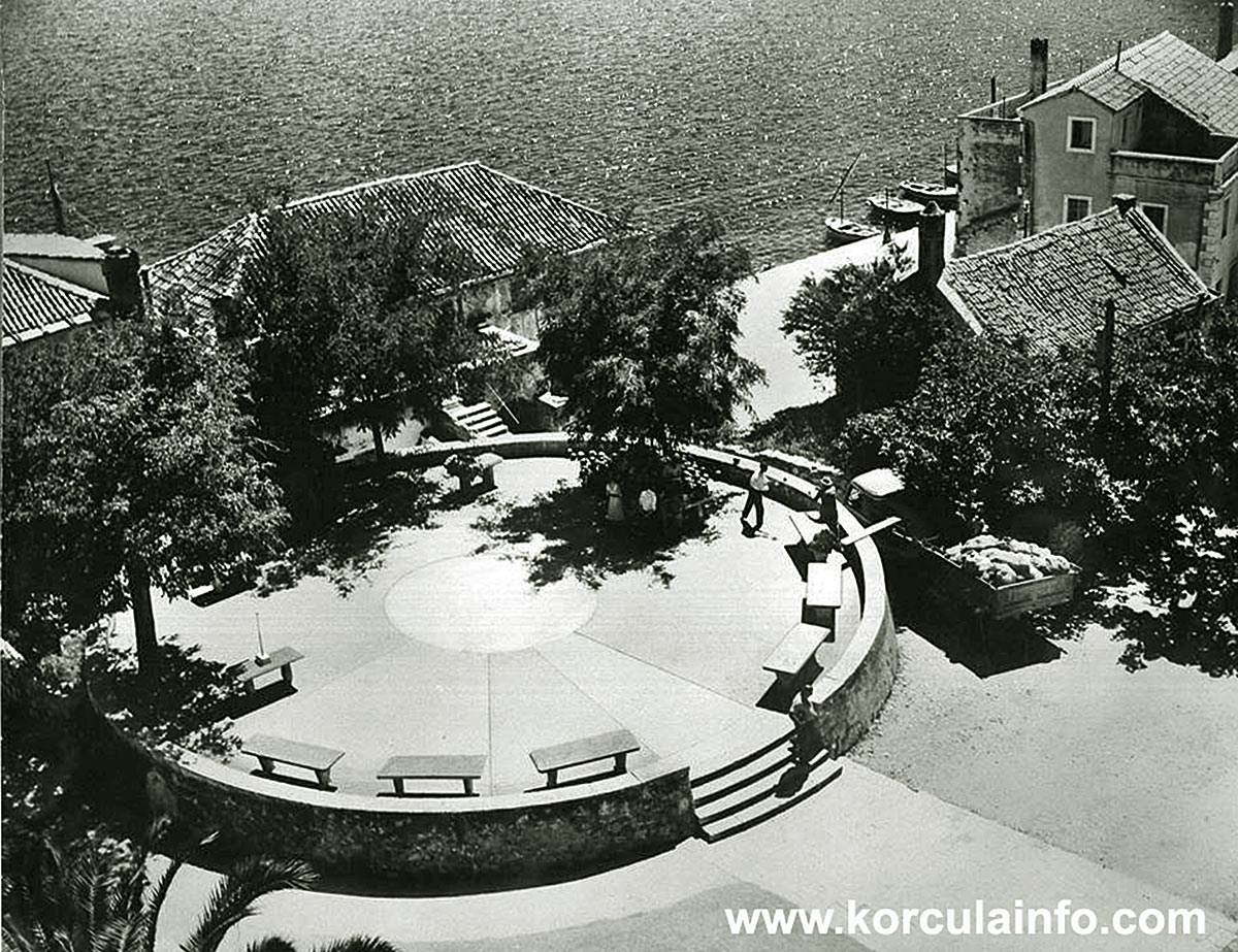 Bird Eye View Over Rotonda, Korcula (1950s)