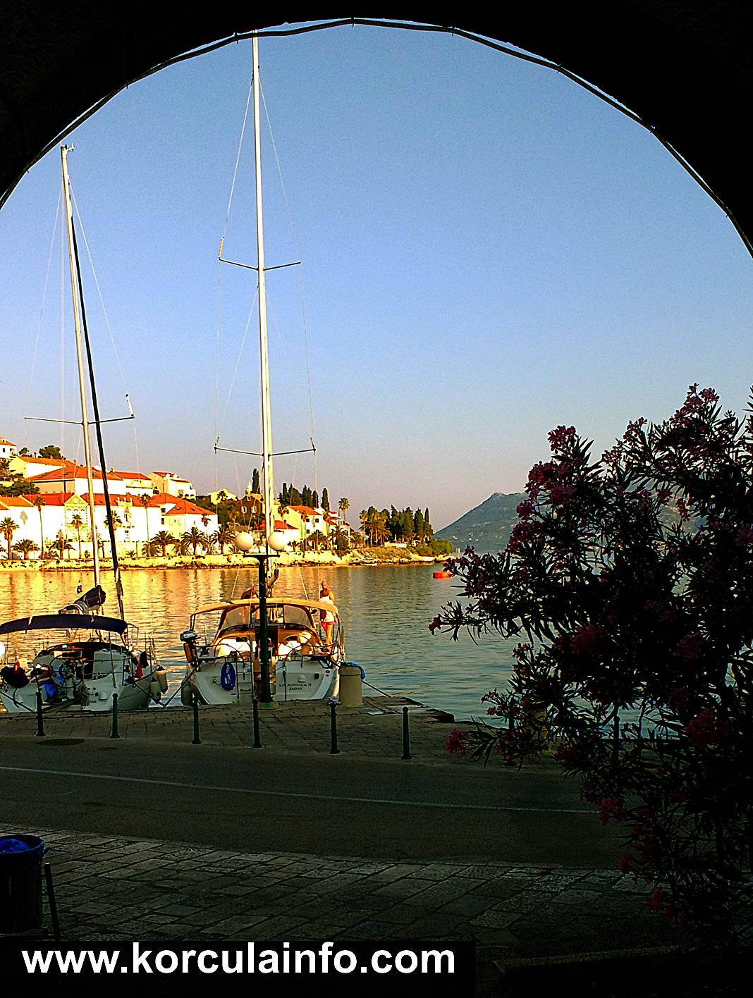 Sailing Boats in Korcula Port (Early Morning)