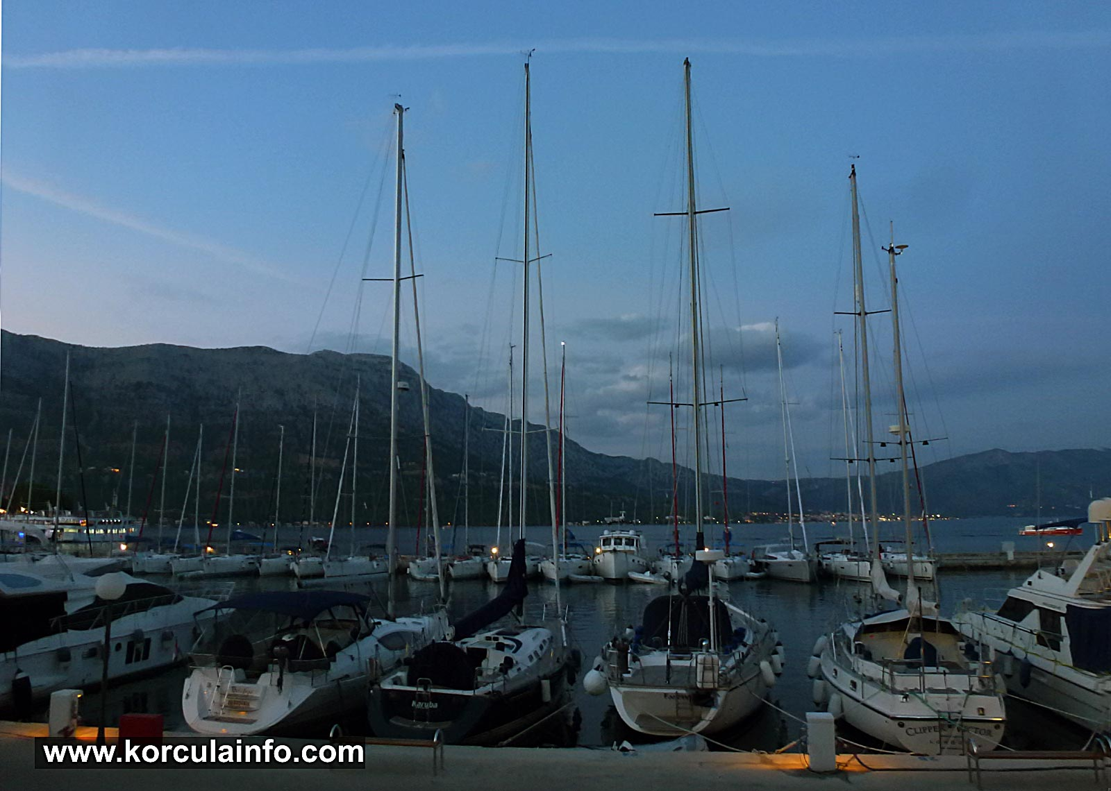 Sailing Boats in Korcula Marina