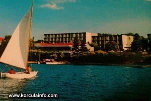 Sailing near Hotel park (1970s)