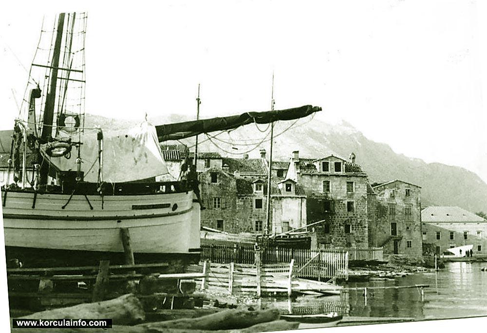 Shipyards in Punta Jurana, Korcula