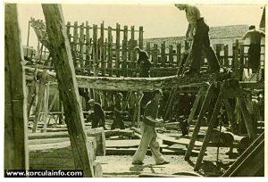 Shipbuilders in Borak shipyard, Korcula 1930s