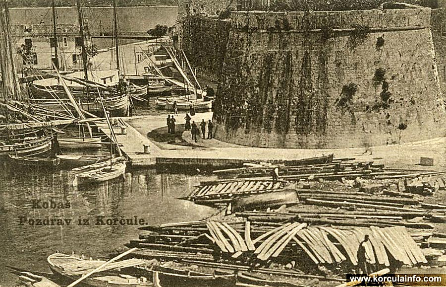 Shipyard in Korcula in 1915s