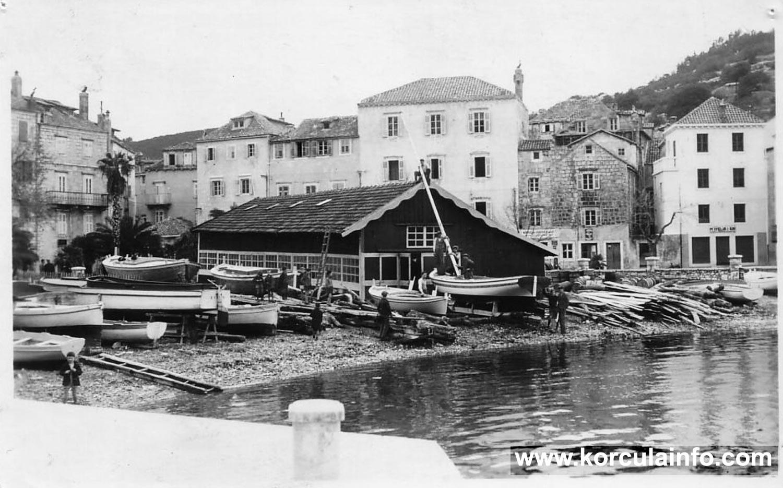 Shipyard in Korcula - Sveti Nikola in 1930s