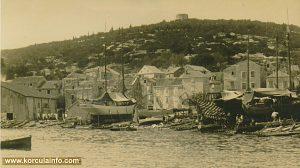 Shipyard in Korcula - Punta Jurana, beginning of 20th century