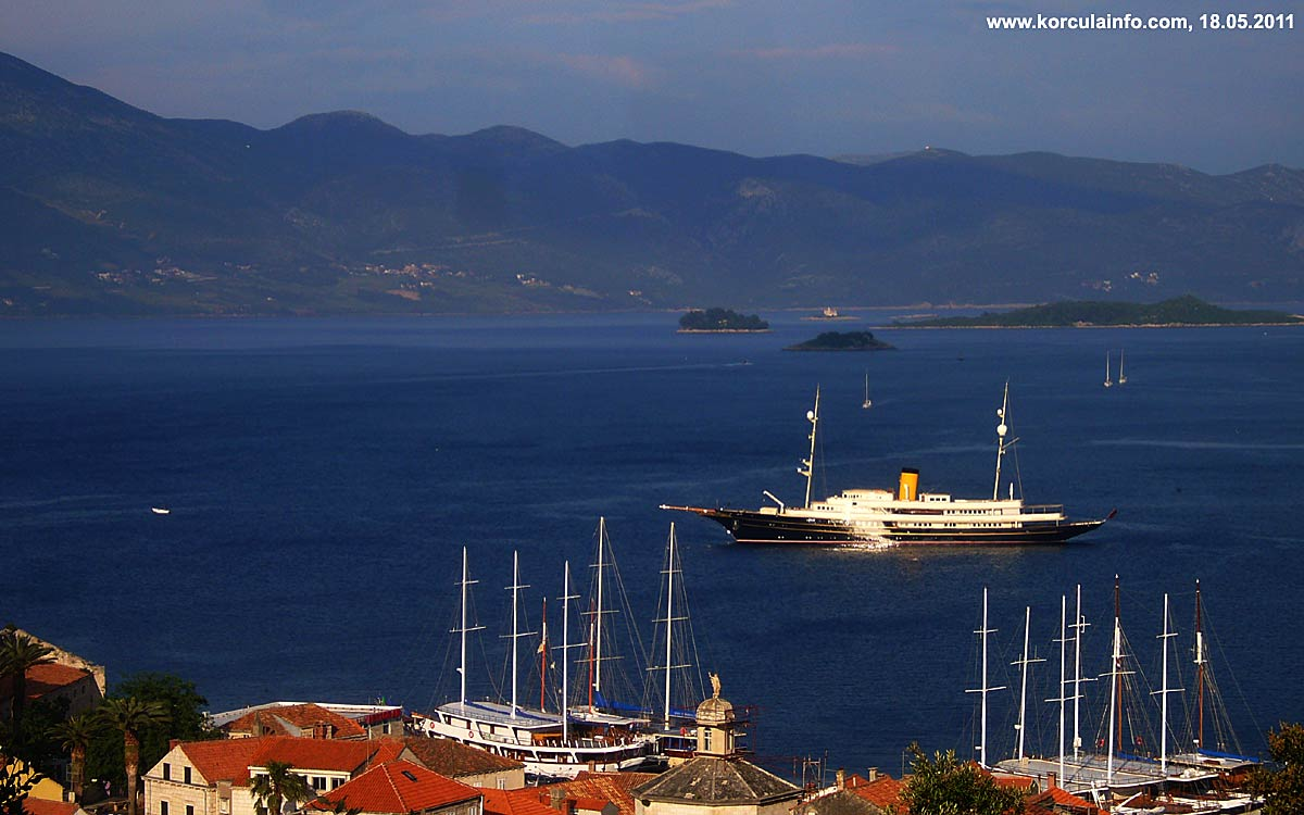 Skoji (Korcula Archipelago) - viewed from Forteca
