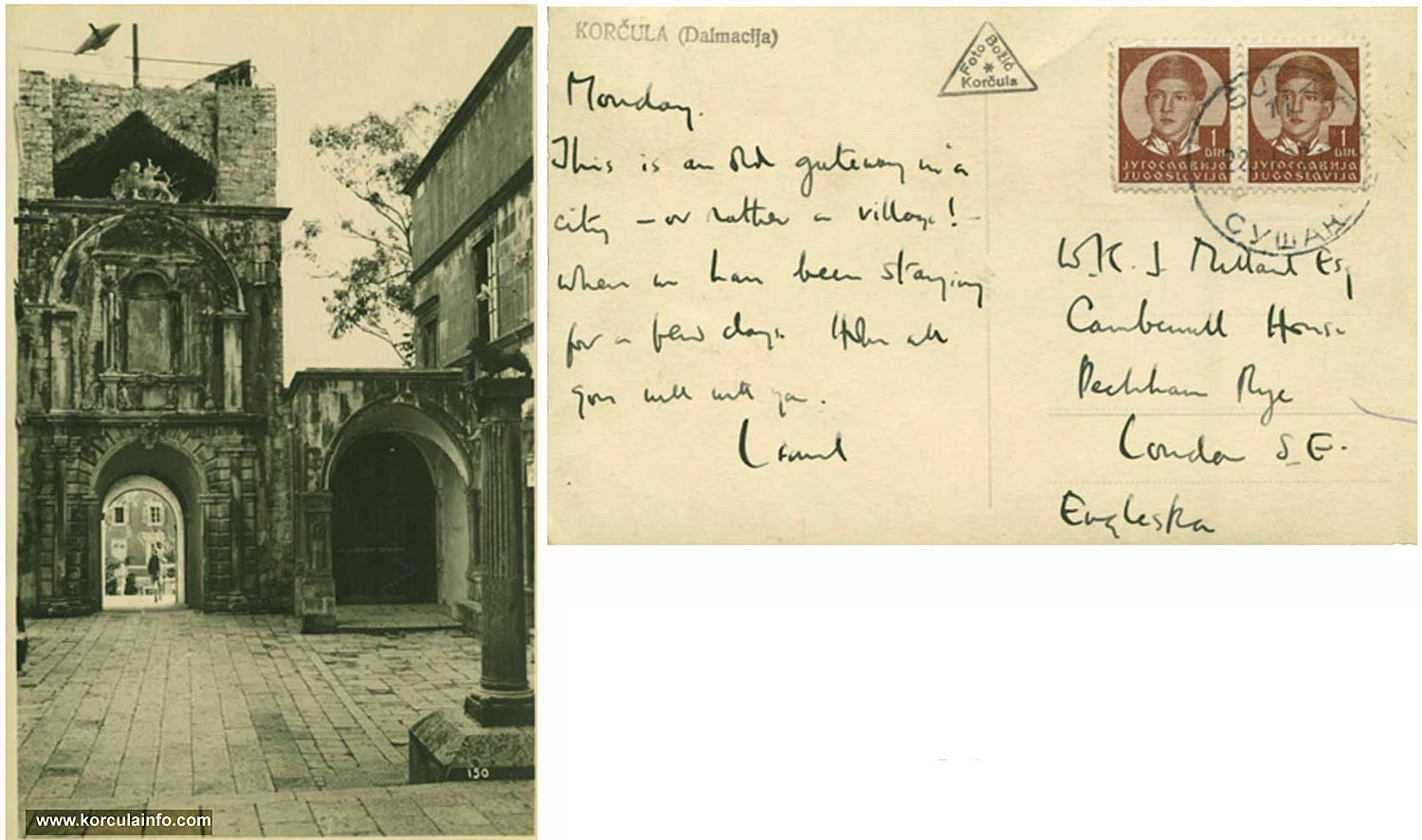 Postcard from 1930s