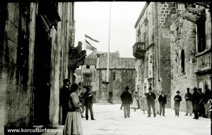 St Mark's Square, Korcula in 1900s