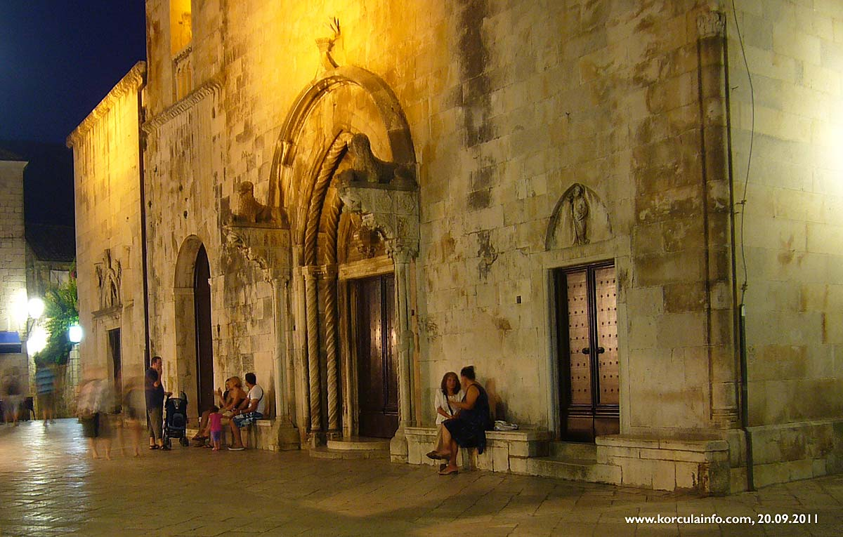 Evening at St Mark's Square, Korcula