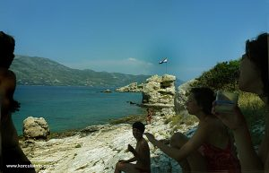 Sunbathing on Stupe Beach, Korcula Archipelago