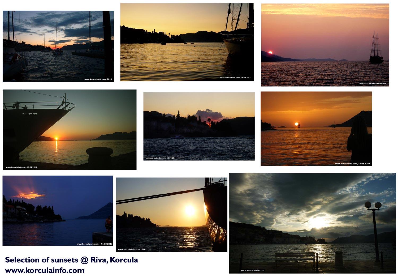 Sunset Selection @ Riva (Korcula Port)