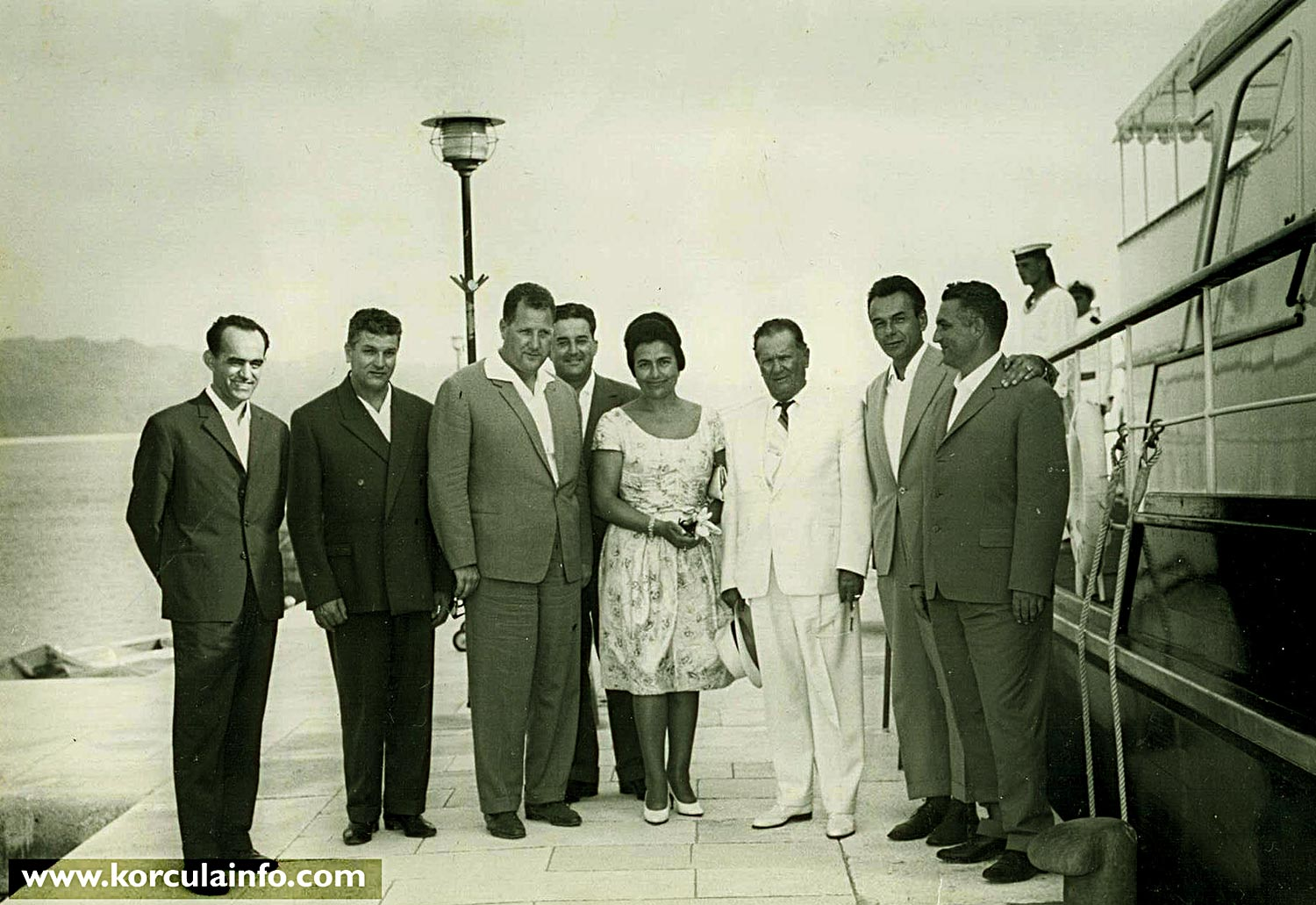 Shipbuilders from Korcula with Tito @ Brijuni in 1963