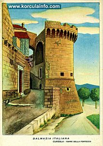 Old print of Kanavelic Tower