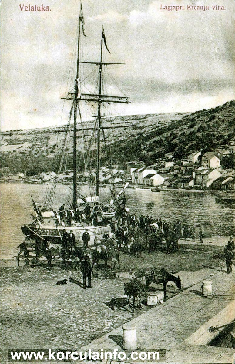 Wine Traders @ Vela Luka in 1900s
