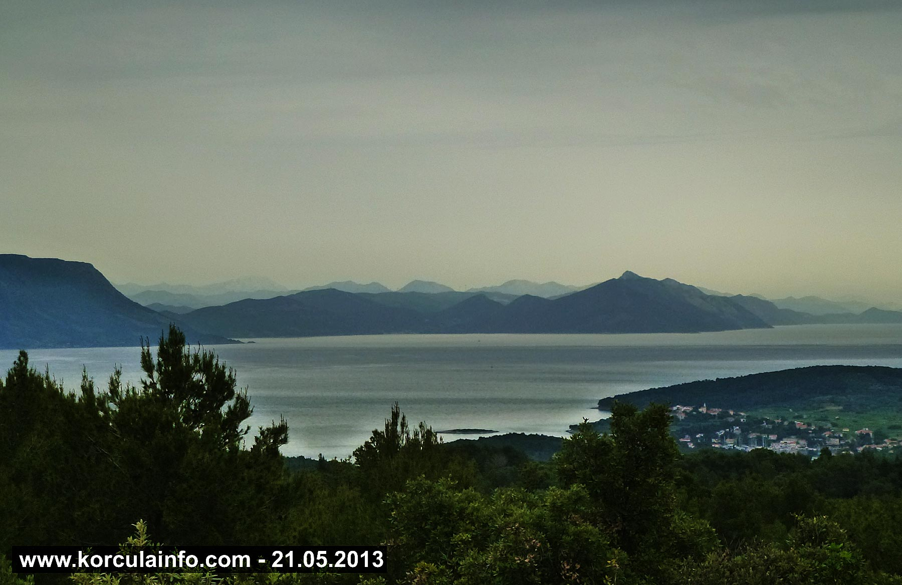 Views over Lumbarda, Peljesac and Channel just before the rain 21.05.2013