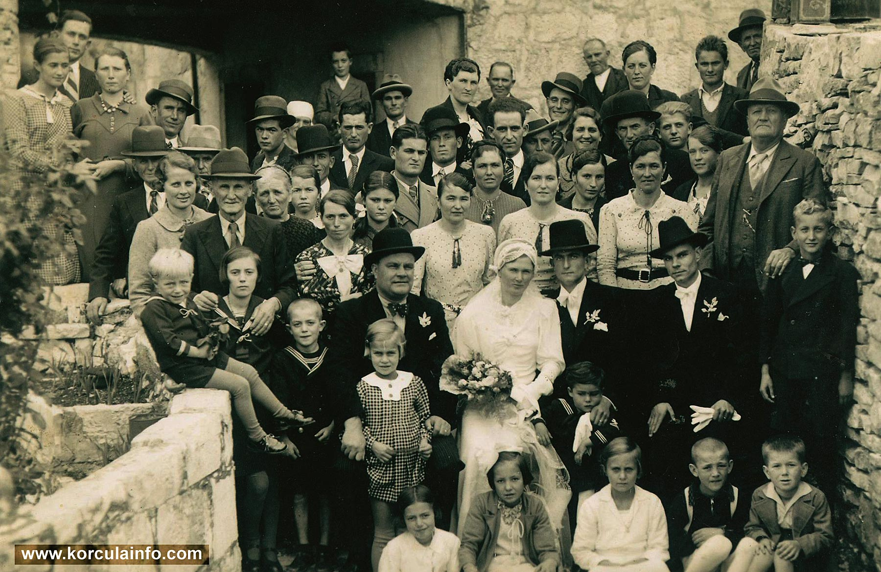Wedding in Postrana in 1936
