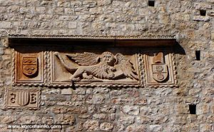 Winged Lion of Venice at Revelin Tower, Korcula