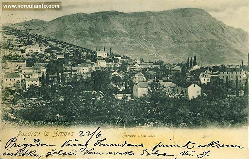 Postcard from Zrnovo - 1905