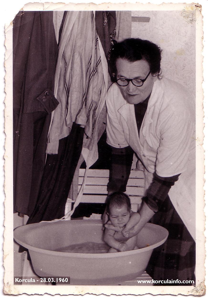 Newborn baby- Korcula in 1960