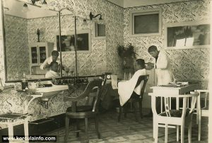 Barbershop in Korcula in 1932
