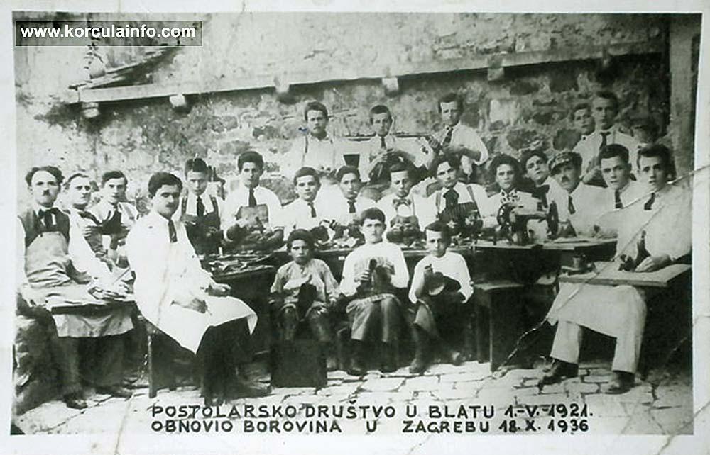 Blato Shoemakers in 1921