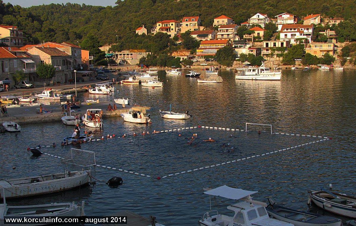 Playing Water Polo in Brna - Korcula Island