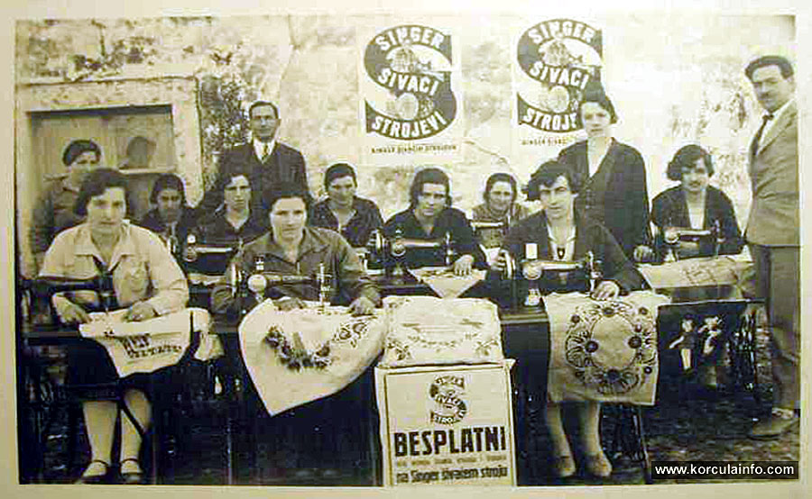 Dressmaking class (sewing course) @ Peljesac 1929