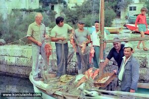 Fisherman in Prigradica in 1970s