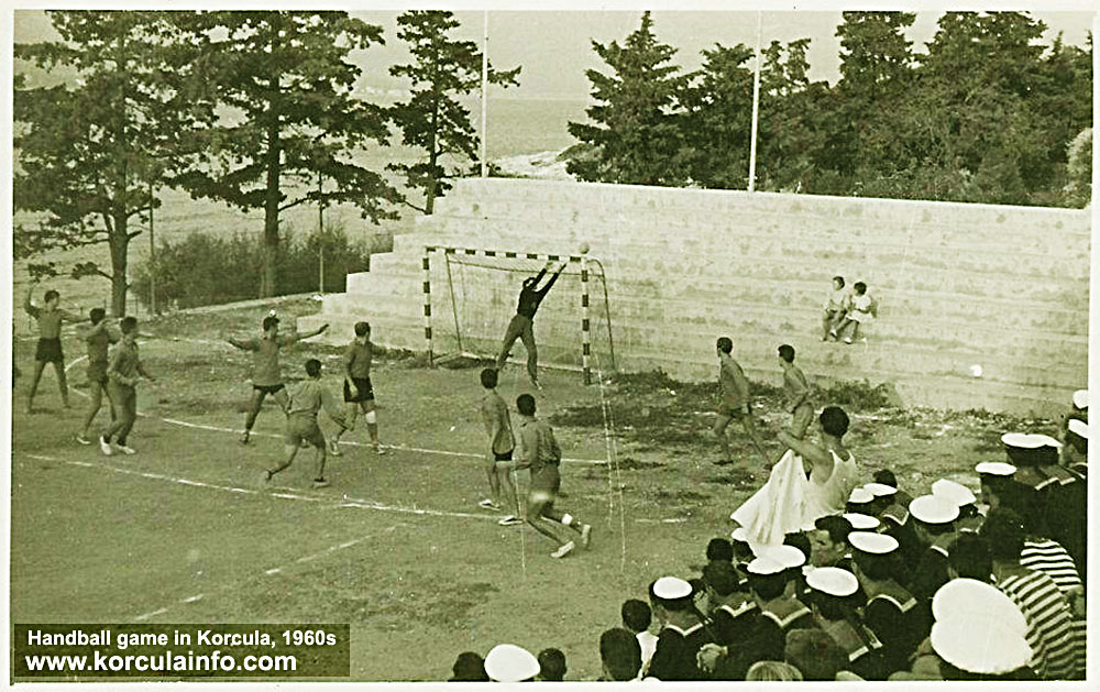 Handball Game in Korcula in 1960s