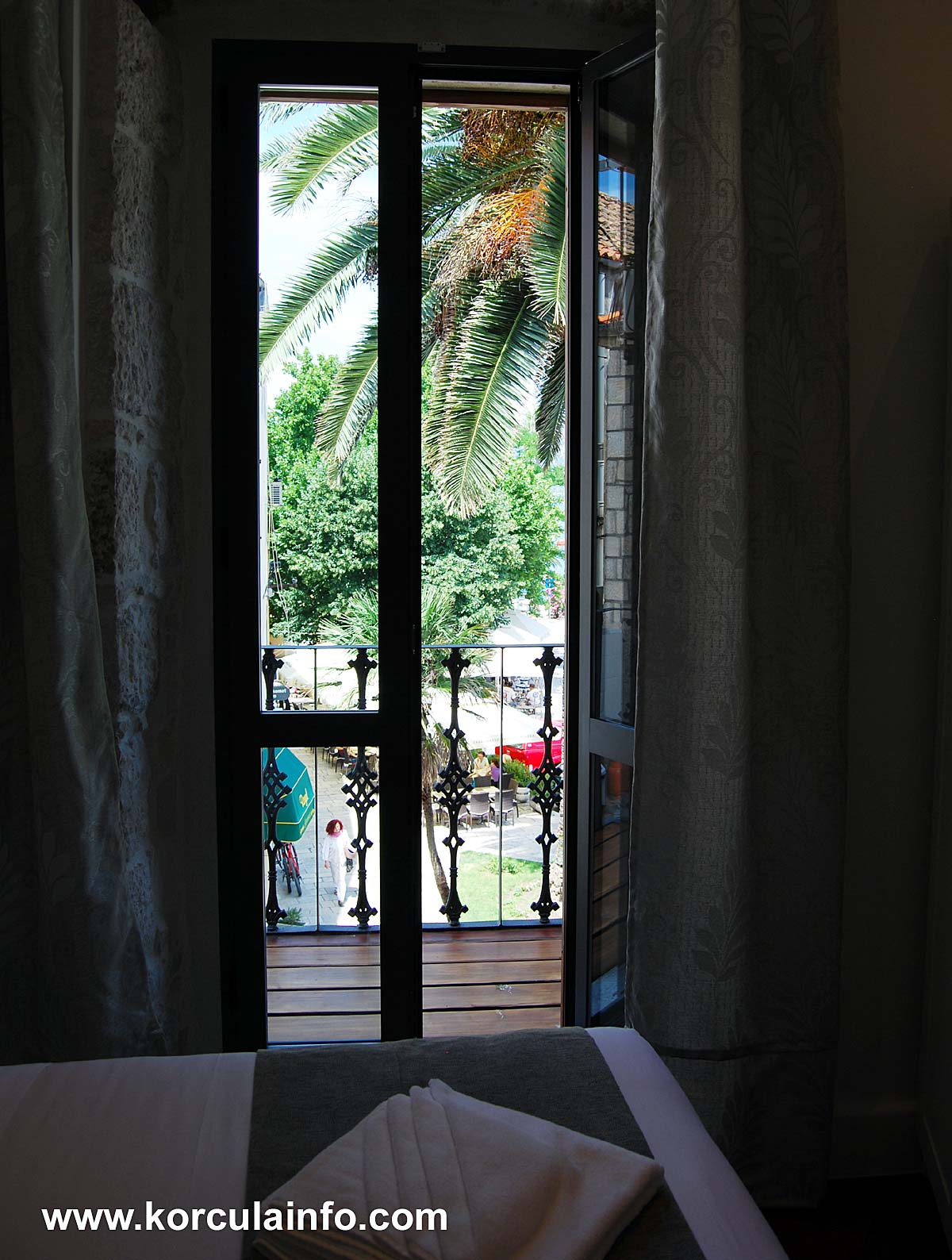 Lovely Views from the room of Hotel Fabris - Korcula