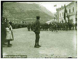 Italian Soldiers @ Military Parade - Riva, Korcula 1920s