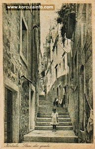 Little girl in Korcula street in 1927
