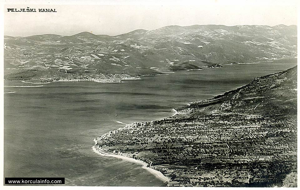 Panorama of Peljesac Channel from 1930s
