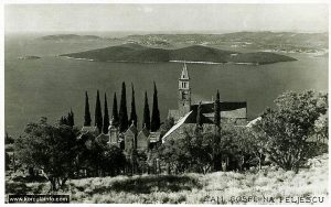 Panorama of Peljesac Channel taken behind the Monastery (from 1930s)