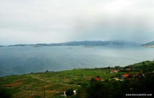 Peljesac Channel viewed from Postup, Peljesac