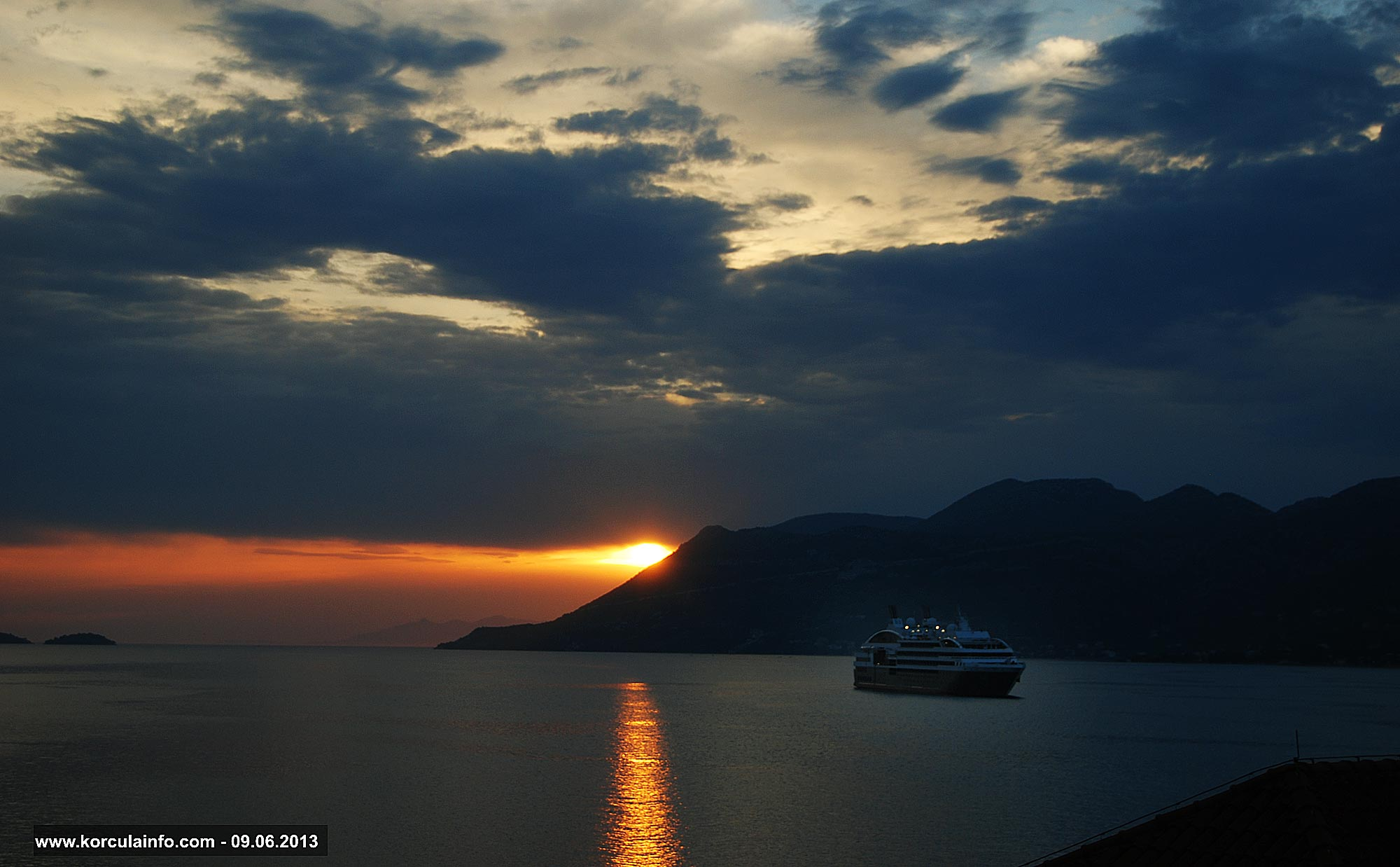Peljesac Channel Sunset - viewed from Korcula Island