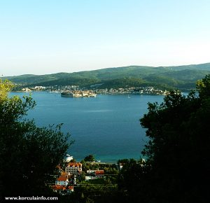 Perna, Korcula town & Peljesac Channel