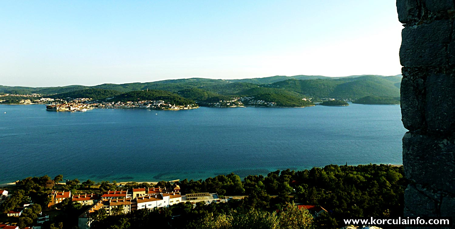 Views over Peljesac Channel from Franciscan Monastery in Orebic