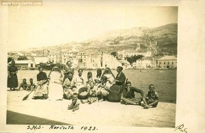 Group of people in Korcula 1923