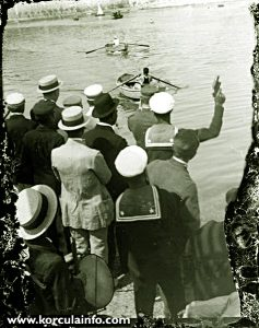 Rowing Regatta in Korcula in 1920s
