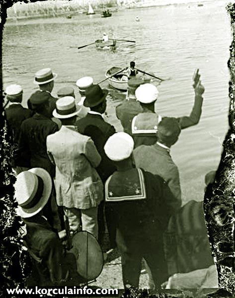 Rowing Regatta in Korcula in 1920s