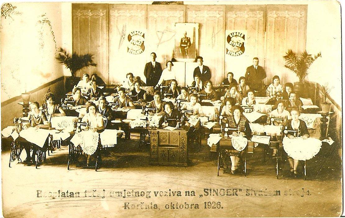Dressmaking class (sewing course) - Singer - Korcula 1926