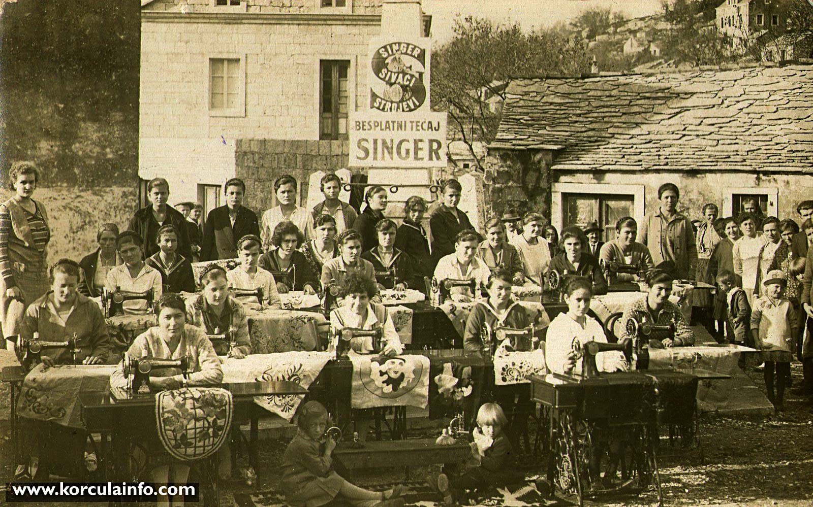 Dressmaking class (sewing course) in Zrnovo (Barina) in 1926